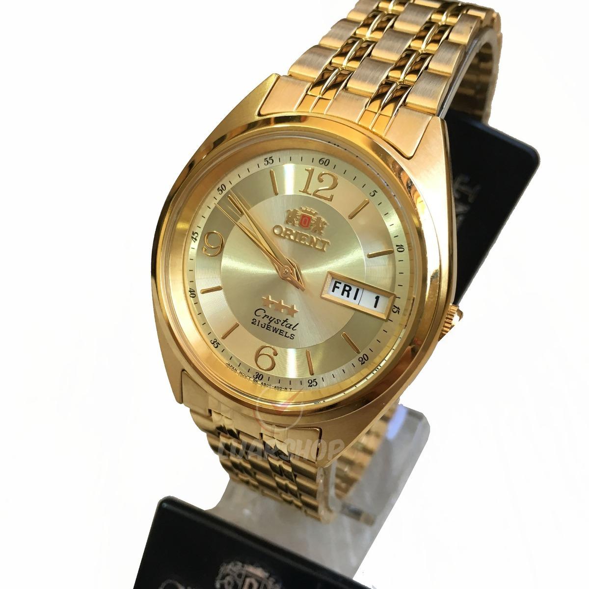 93d2bc14645 relógio orient automatico masculino dourado - original. Carregando zoom.
