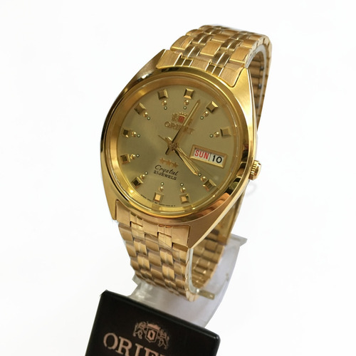 relógio orient automatico masculino dourado original c caixa
