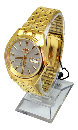 relogio orient automatico masculino dourado original nf