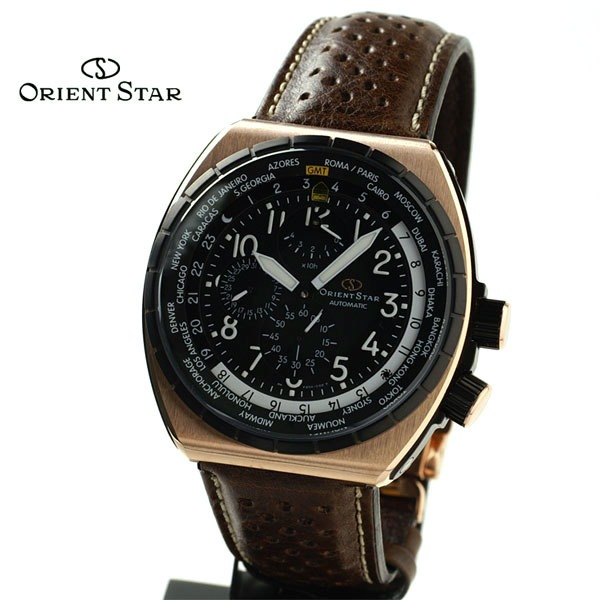 87a99e6893a Relógio Orient Automático Masculino Marrom Pulseira Couro - R  3.890 ...
