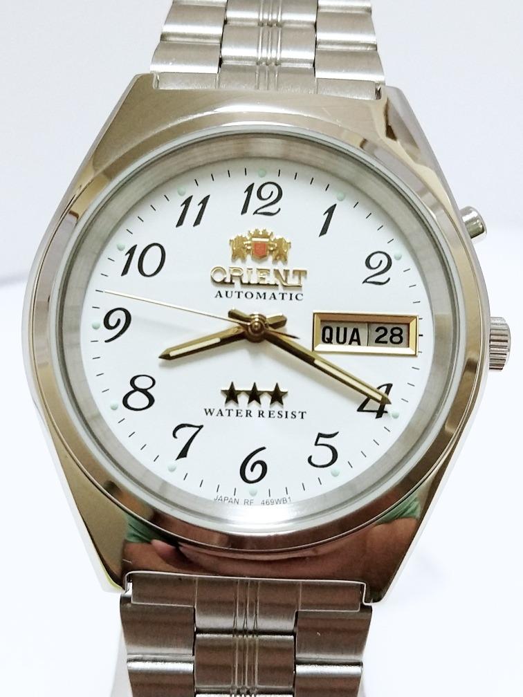 844f23a3021 relógio orient automático masculino original 469wb1a. Carregando zoom.