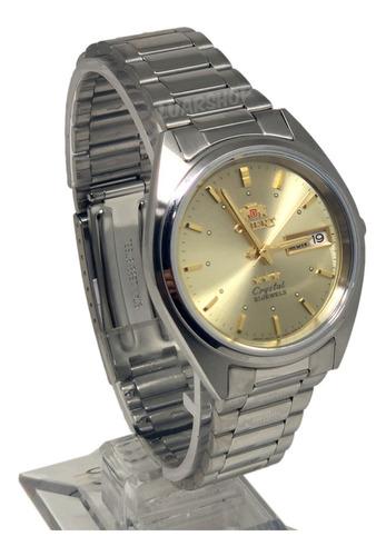 relógio orient automatico masculino prata dourado original