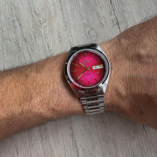 relógio orient automatico masculino retro vermelho original