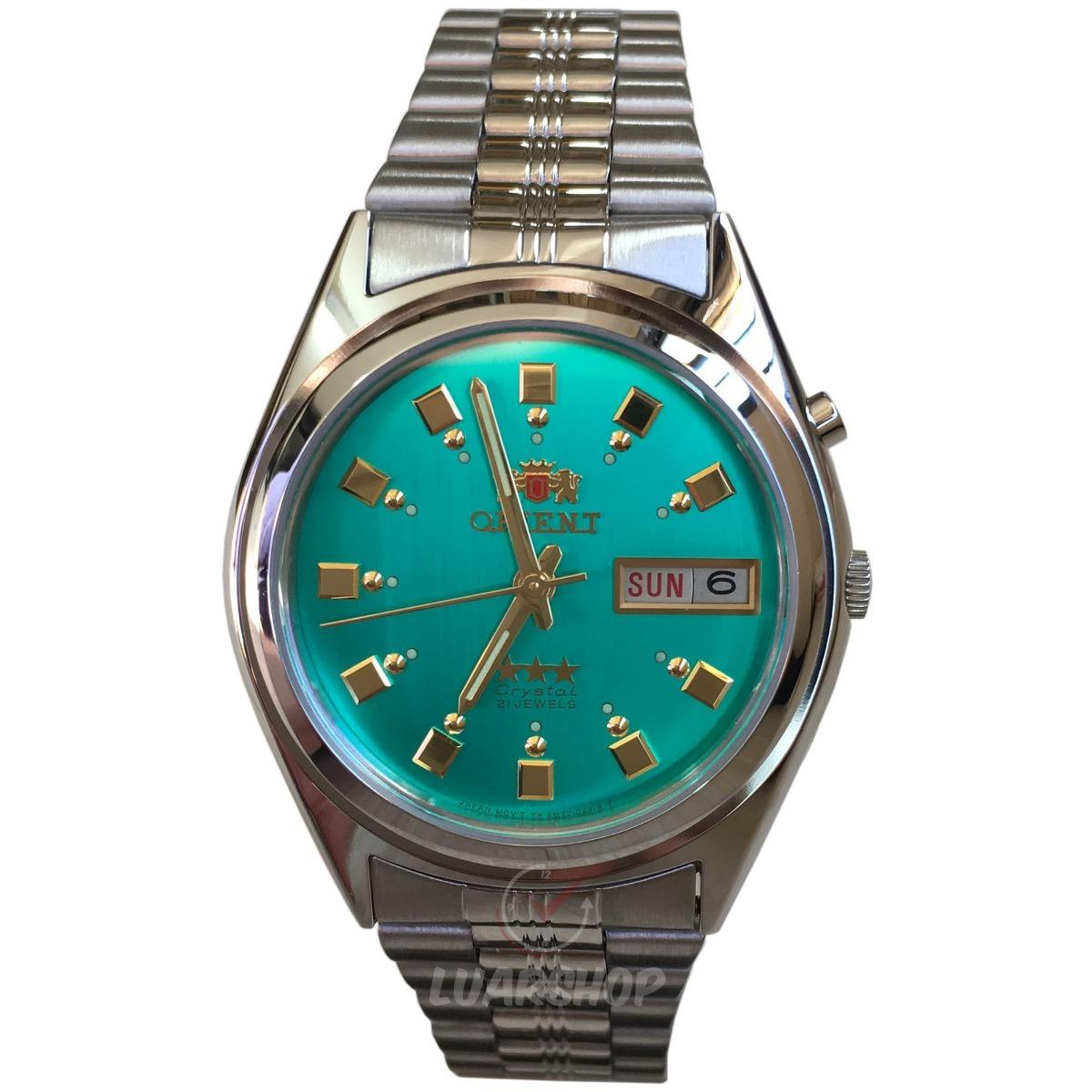 5db306e3ddb relógio orient automatico masculino - verde 2 chave c  caixa. Carregando  zoom.