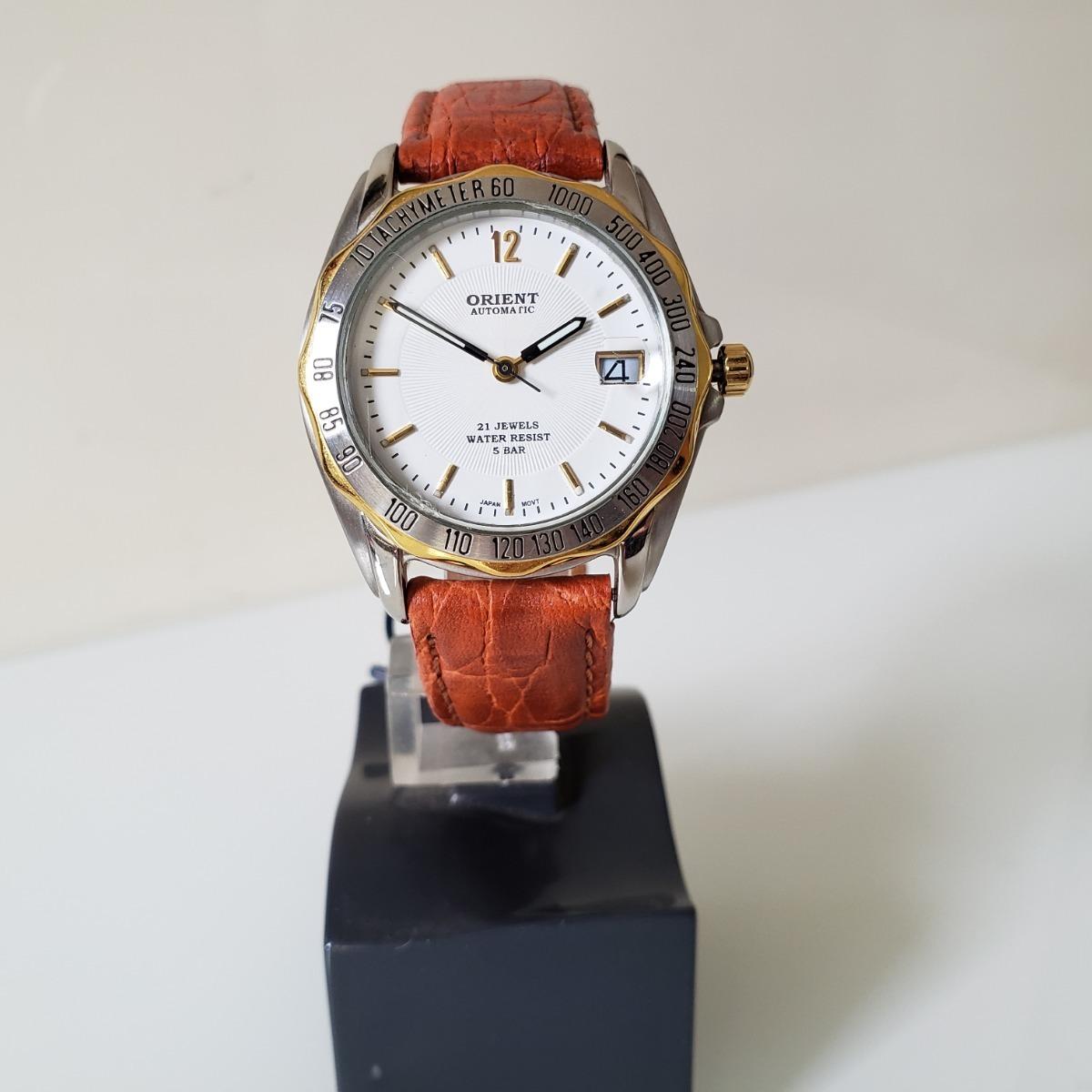0fae41d3c4e Relógio Orient Automático Mostrador Branco Data Com Lupa - R  479