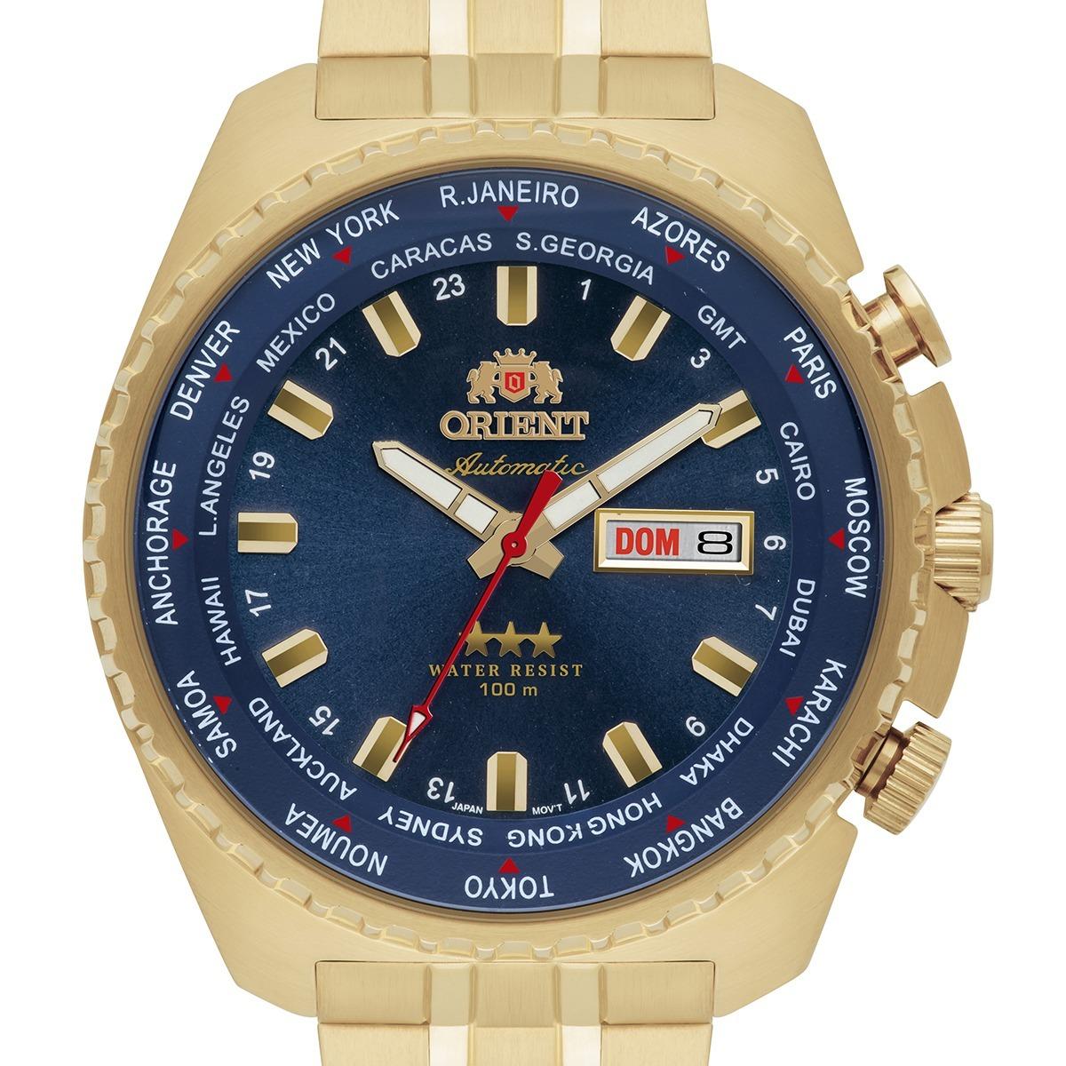 7462e5aaecc relógio orient automático original 469gp057 d1kx dourado. Carregando zoom.