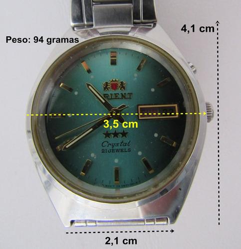 relógio orient automático original pulseira de metal