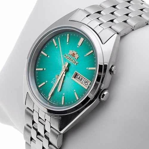 7fe9ec4e50f0b Relogio Orient Automatico Retro Caixa Azul Verde - R  299