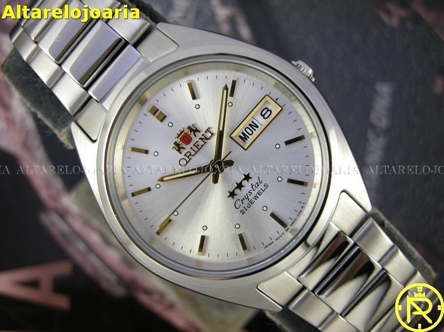 692087c63e5 relógio orient clássico automático plaque aço fab00005w9. Carregando zoom.