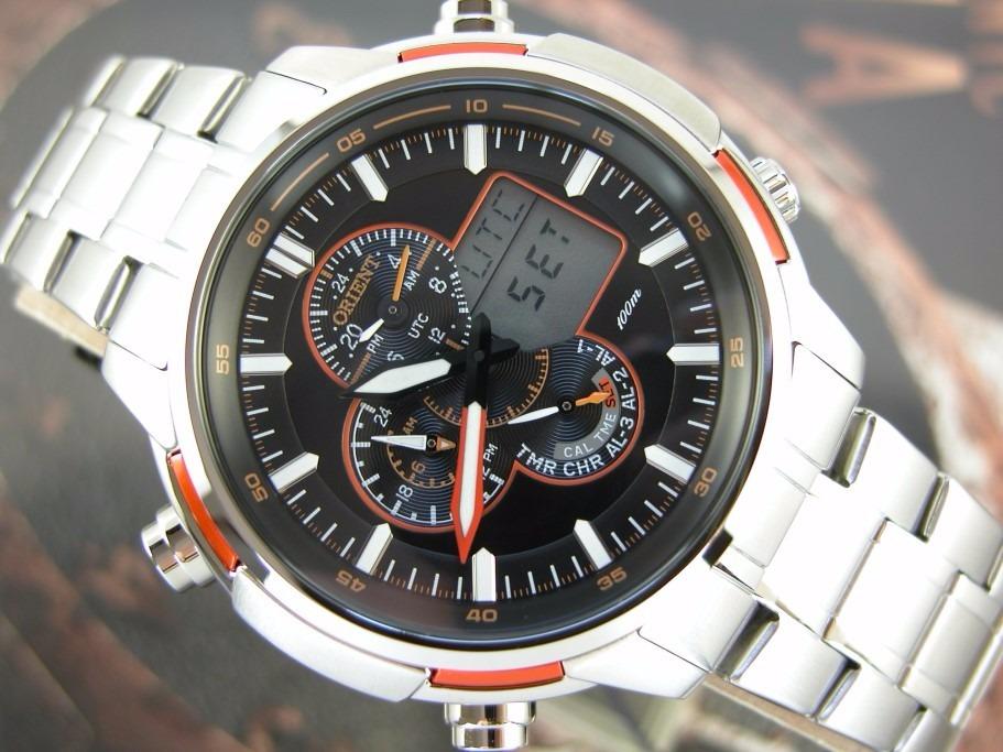 70c9a029b5f relógio orient cronógrafo alarm analógico e digital mbssa044. Carregando  zoom.