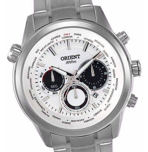 relógio orient cronógrafo mbssc085 - 100m novo, nf, garantia