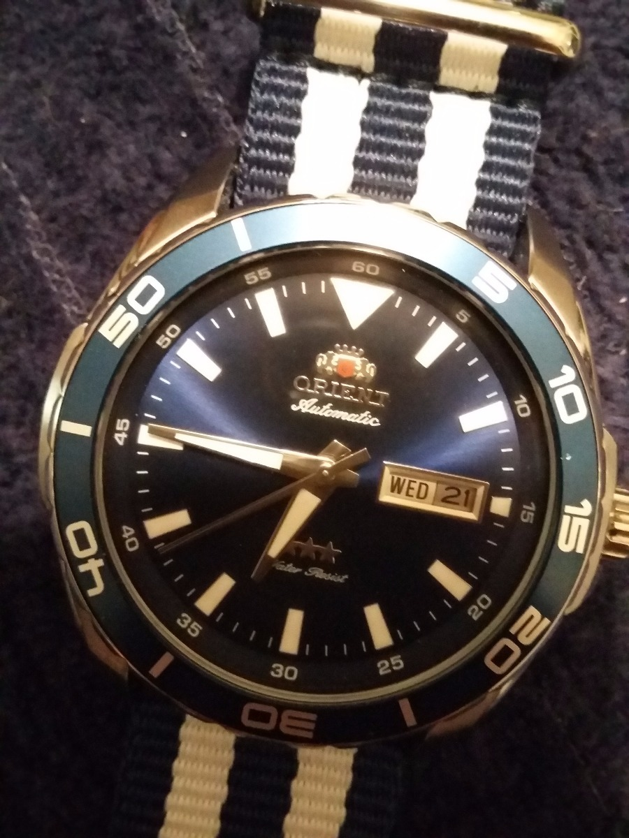 d413e39362a relógio orient diver 100m - pulseira nato original 469ss064. Carregando  zoom.