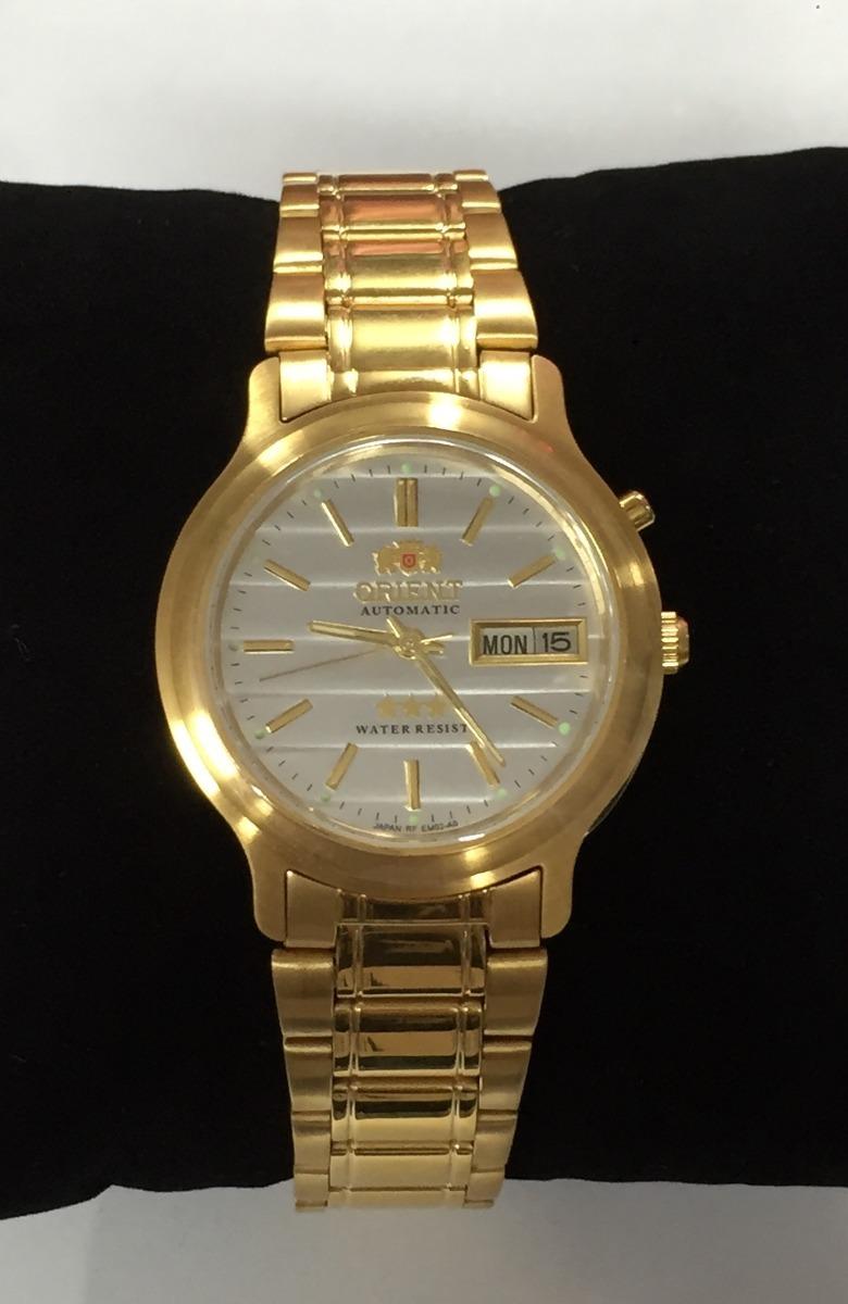 2bd17204f8c relogio orient dourado automatico folheado a ouro c garantia. Carregando  zoom.