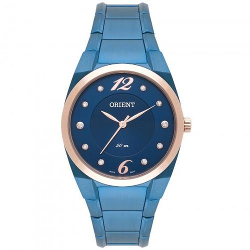 relógio orient fass0001 d2dx feminino azulado - refinado