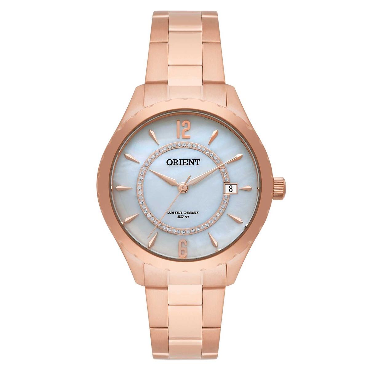 Relógio Orient Analógico Feminino Rose Frss1033 B2rx Swarovs - R ... 6c7b884538