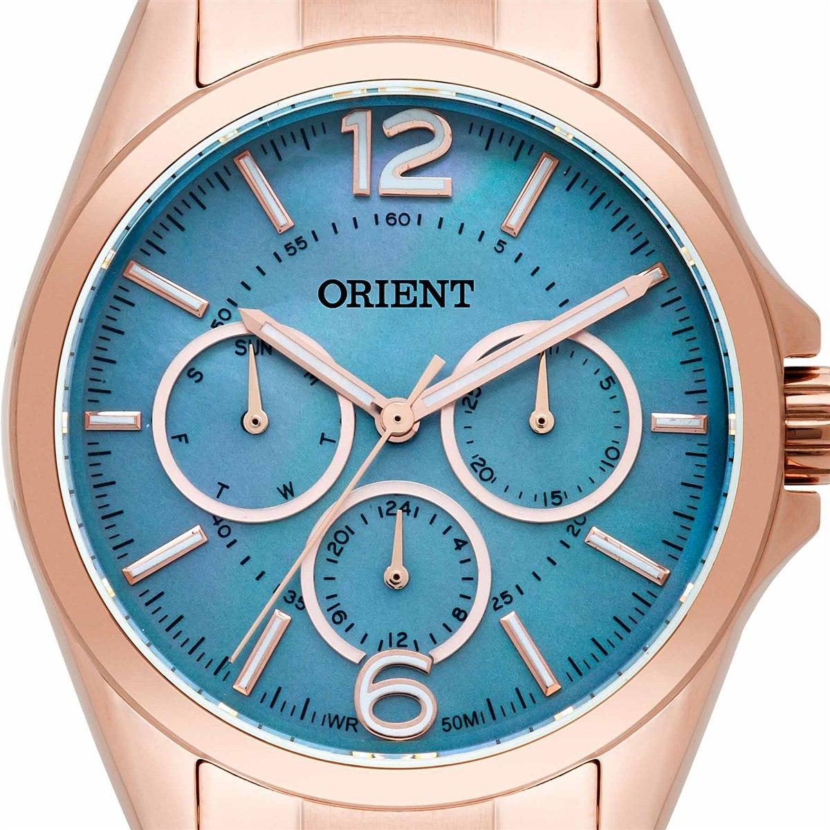 Relógio Orient Analógico Feminino Rose Frssm022 G2rx Multifu - R ... 877df528ce