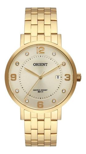 relógio orient feminino fgss1165 c2kx dourado analogico
