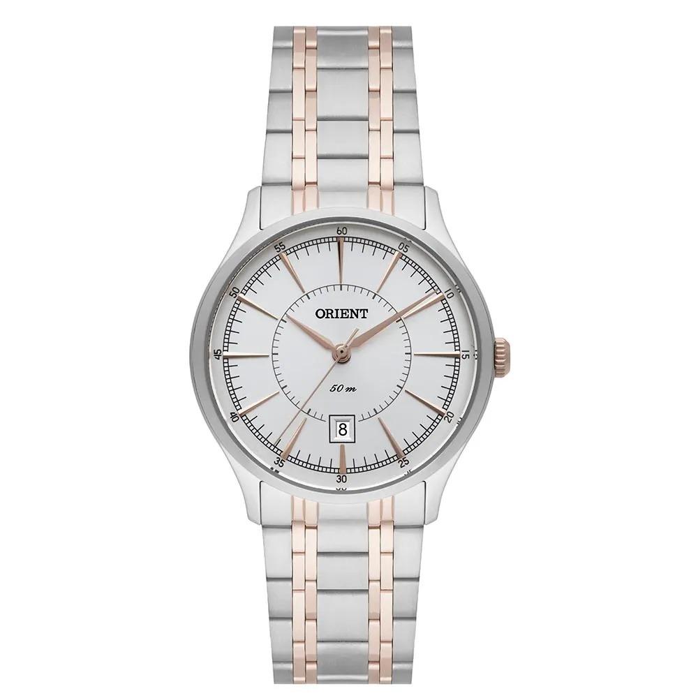 8ba937549a6 ... Relógio Orient Feminino Misto Prata Com Rose Ftss1119 - R 328