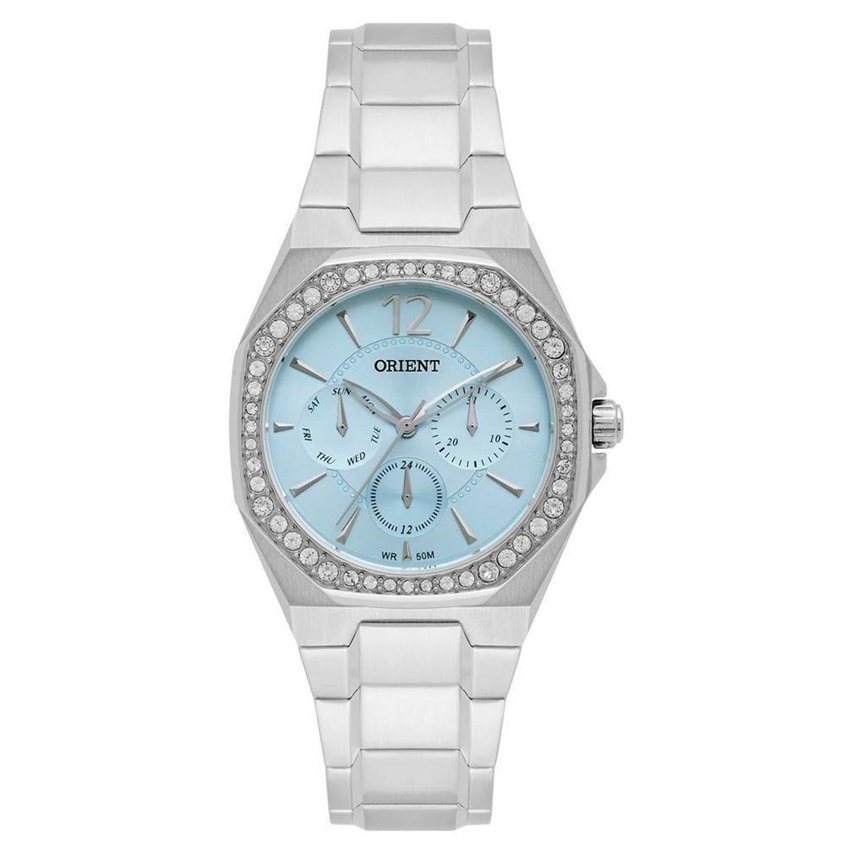 6c5186fdd77 relógio orient feminino prata 50 metros quadrado fbssm031. Carregando zoom.