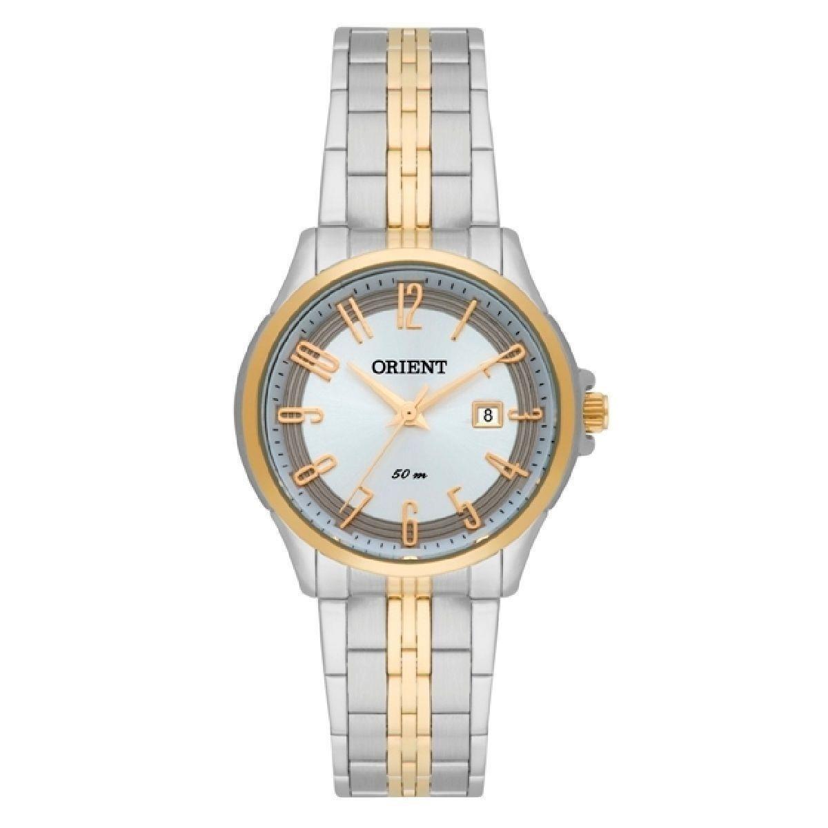 0f823c113e1 Relógio Orient Feminino Prata E Dourado C nf Ftss1091 S2sk - R  389 ...