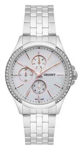 relógio orient feminino prata perolado fbssm030-b1sx