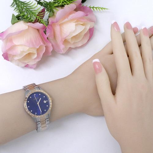 relógio orient feminino prata / rose -  ftss1116 d1sr