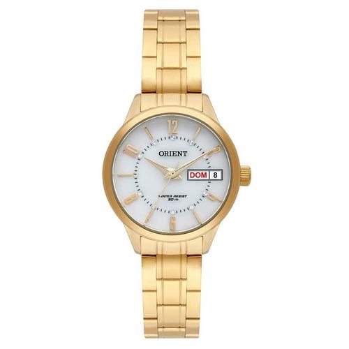 relógio orient feminino ref: fgss2004 b2kx social dourado