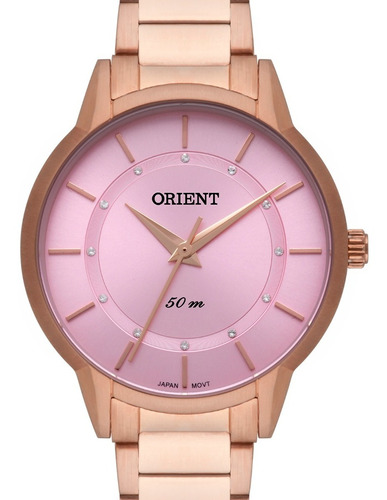 relógio orient feminino rose gold - frss0017 a1rx