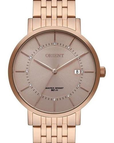 relógio orient feminino rose gold  frss1041 r1rx