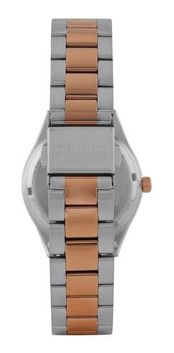 relógio orient feminino rose gold / prata -  ftss0055 m1sr