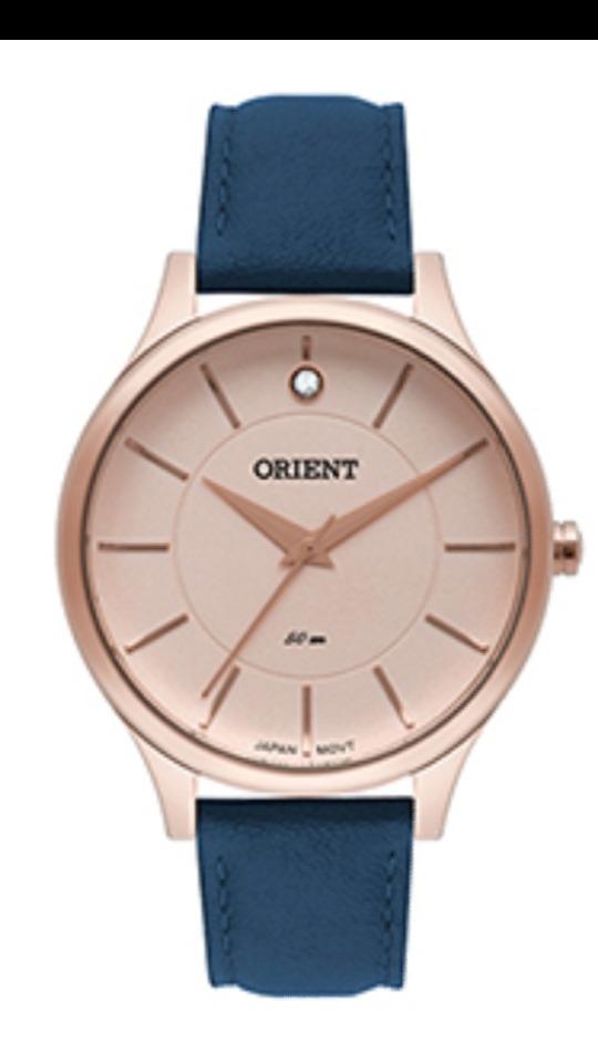 relógio orient feminino rose pulseira de couro frsc0011 r1dx. Carregando  zoom. 1fcd95f79f
