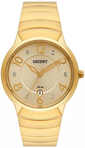 relógio orient fgss1130 c2kx dourado feminino original + nf