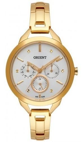 relógio orient fgssm063 s1kx feminino dourado - refinado