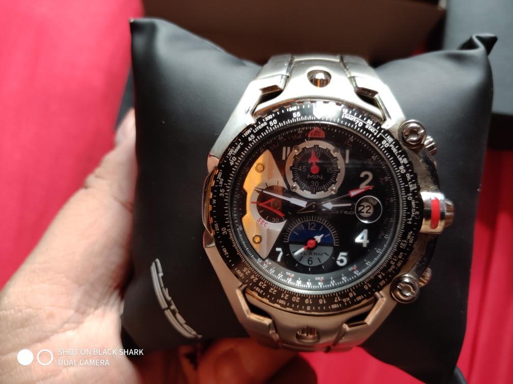 a81c2cdf5f0 relógio orient flytech titanium mbttc001. Carregando zoom.
