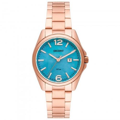 relógio orient frss1026 g2rx feminino dour rosê - refinado