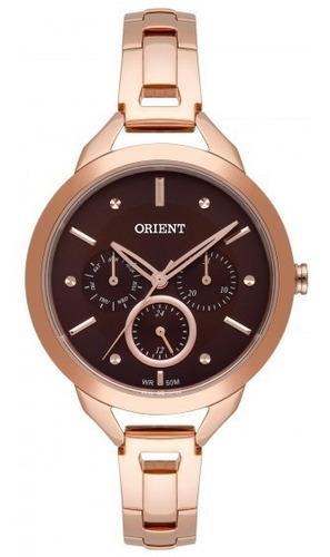 relógio orient frssm028 n1rx feminino dour rosê - refinado