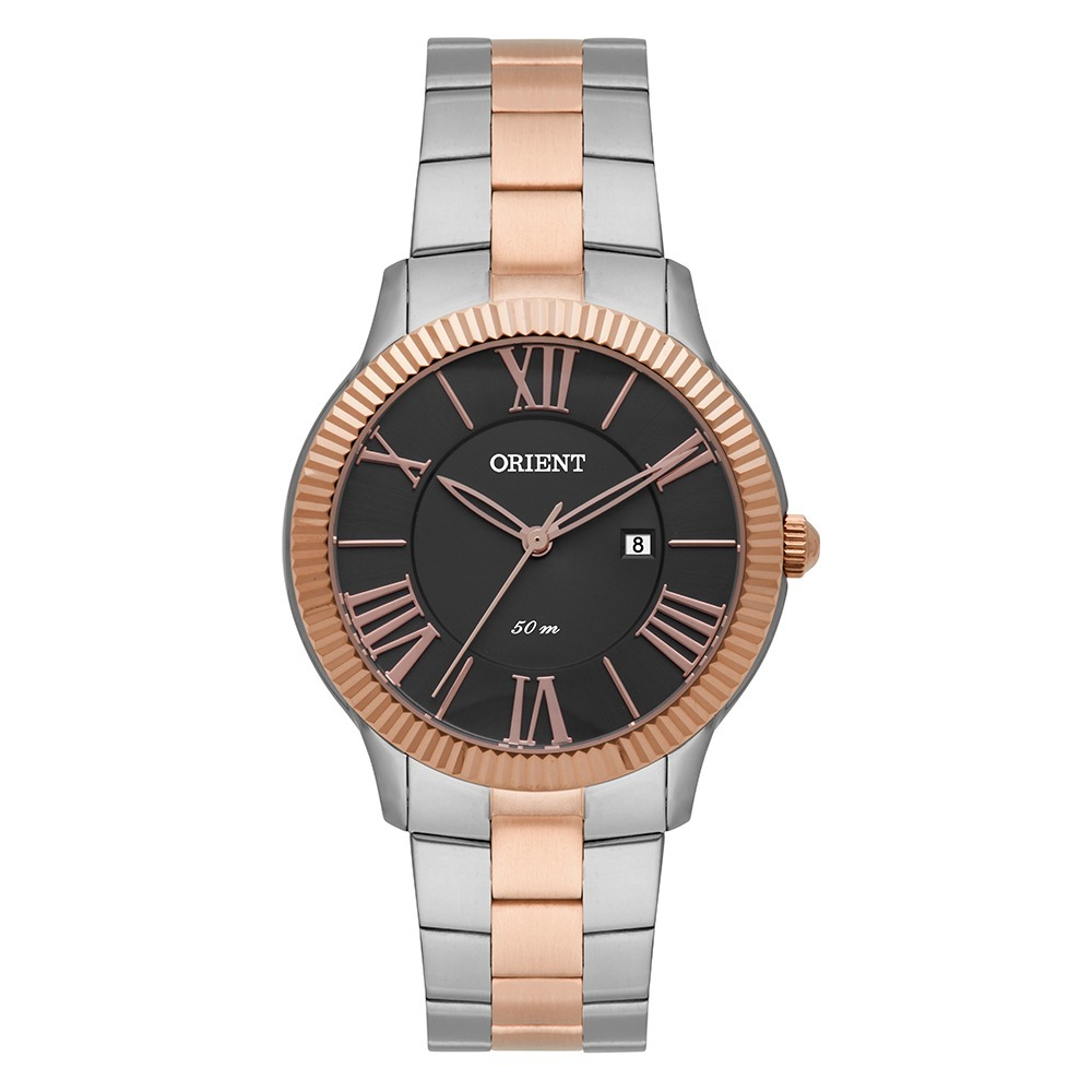relógio orient ftss1109 feminino analógico prata com rose. Carregando zoom. 0b740a9a0d
