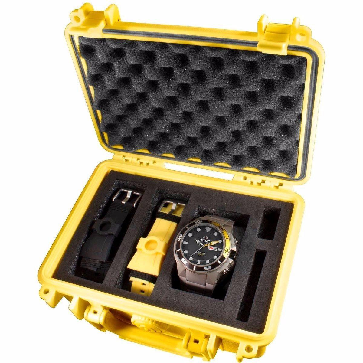 8749532c480 relógio orient kit seatech 469ti003 automático 500m titanio. Carregando zoom .