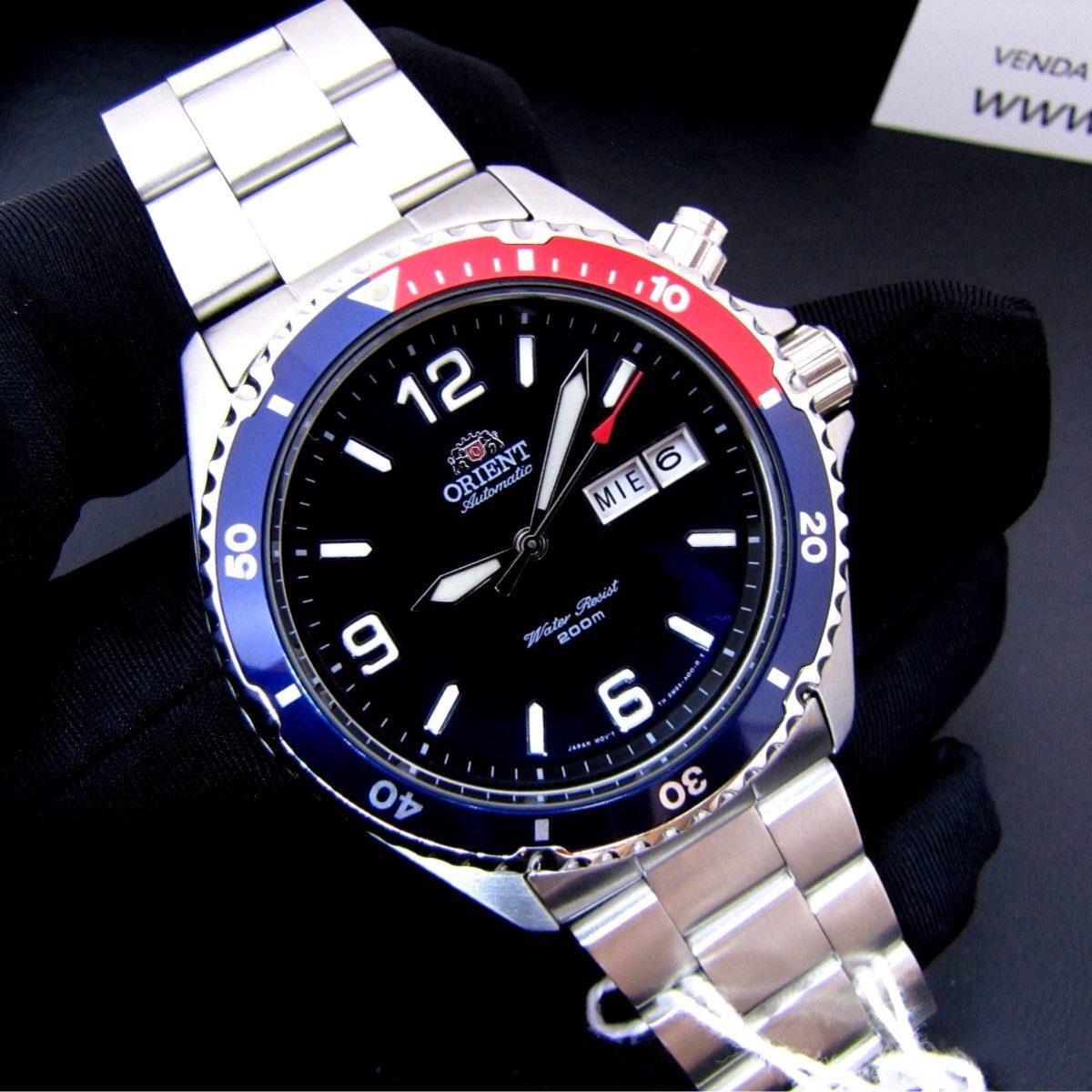 54c179f2f3f relógio orient mako made in japan automático fem65006dw. Carregando zoom.