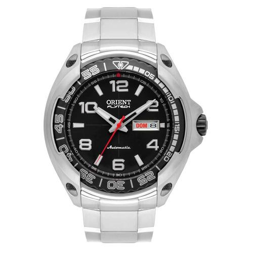 relógio orient masculino 469ti005 p2gx automático flytech