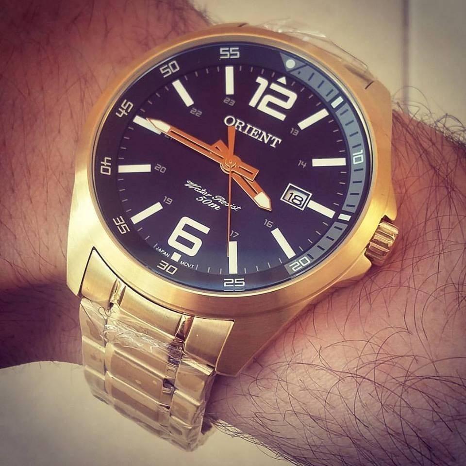 3229fd59773 Relógio Orient Masculino Mgss1112 P2kx - Dourado - R  508