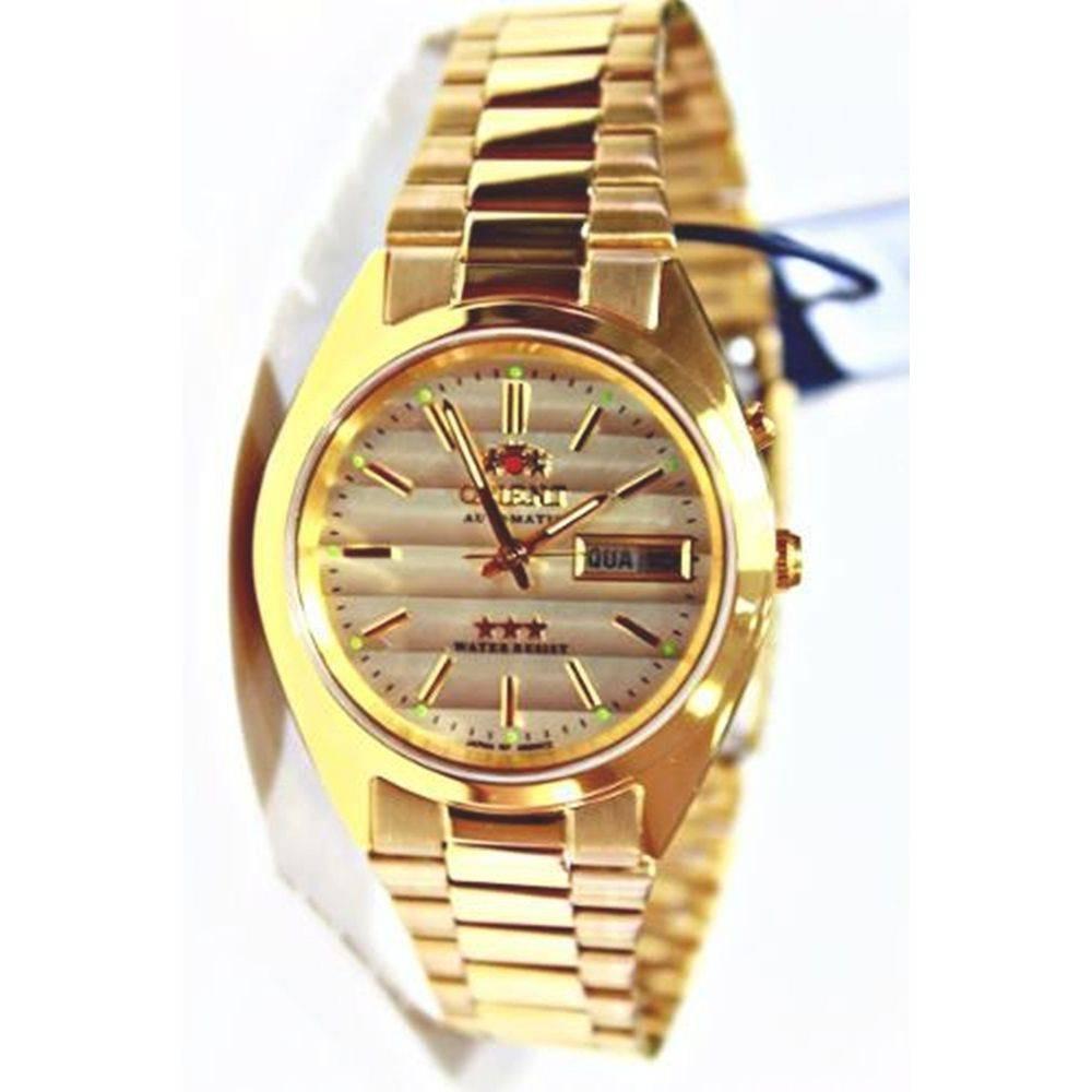 d6083d74cfb Relógio Orient Automático Masculino Dourado Clássico 469wc2 - R  723 ...