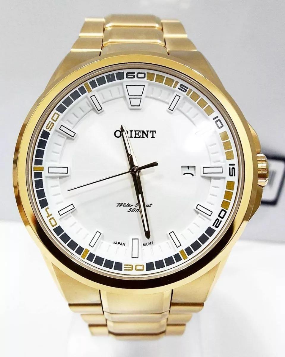 d8760e63511 Relógio Orient Masculino Dourado Mgss1135 - R  499