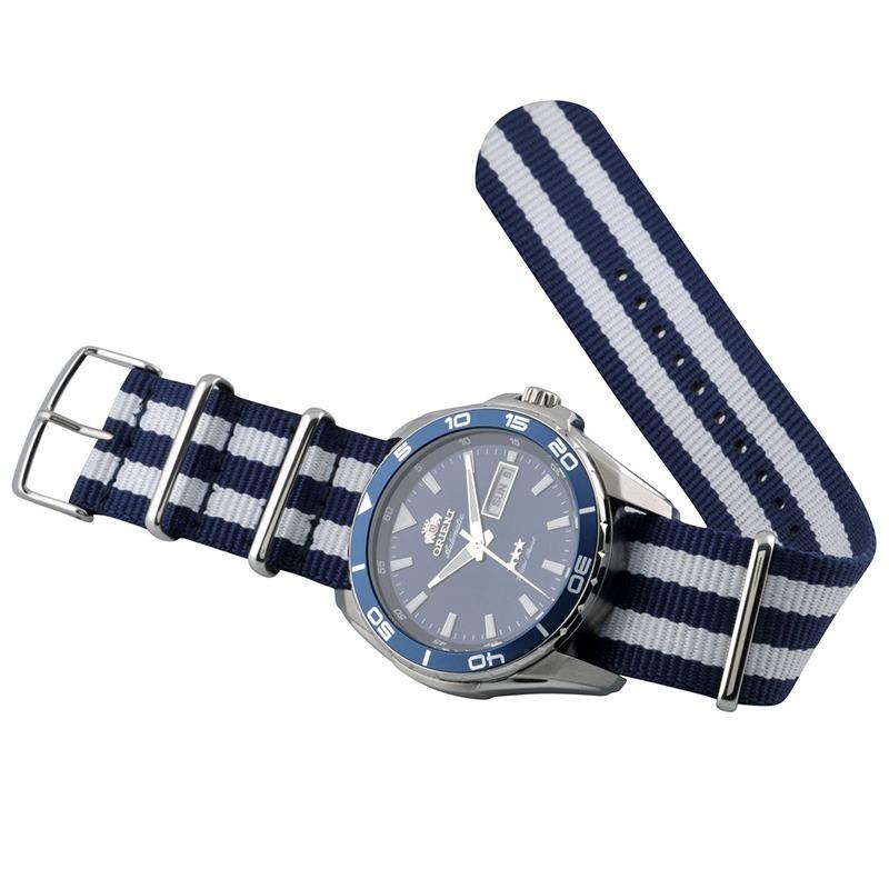085e2136c41 Relógio Orient Masculino Automático Prata Azul 469ss064 - R  398