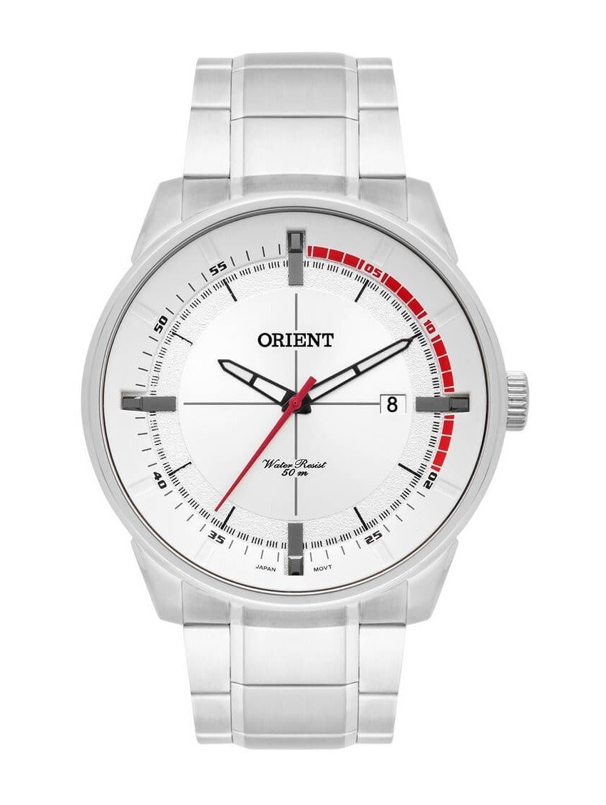 786fb603081 Relógio Orient Masculino Prata Fundo Branco Mbss1295 S1sx - R  284 ...