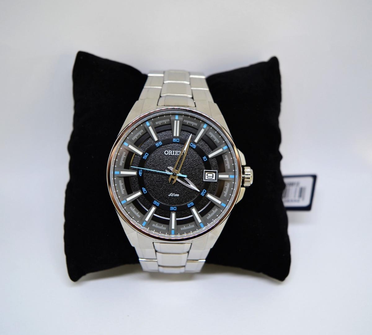 9ee1fce0fcc Relógio Orient Masculino Prata Mbss1313 Pasx Calendário - R  270