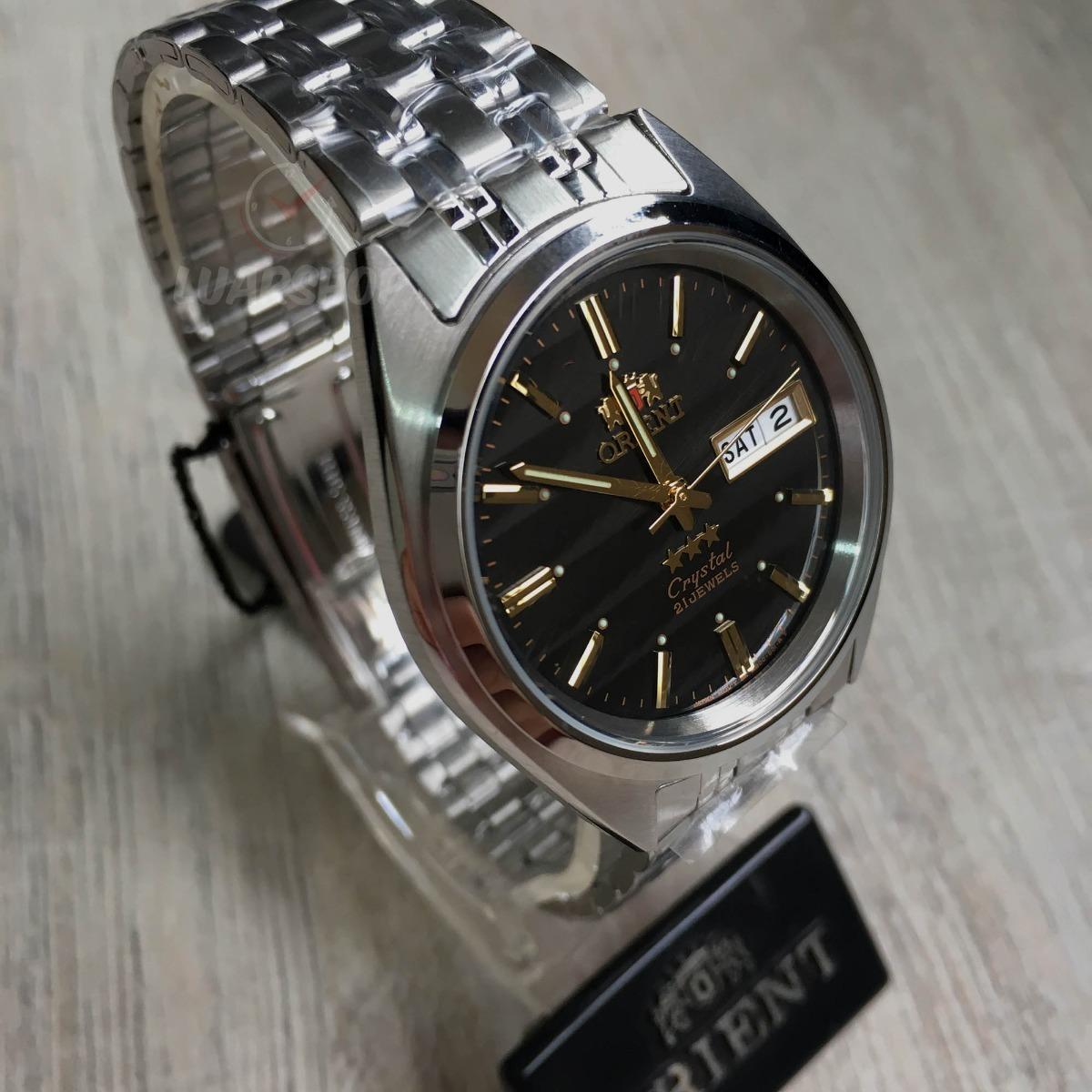 7dab49cc165 Relógio Orient Automatico Masculino Preto Listra Original - R  329 ...