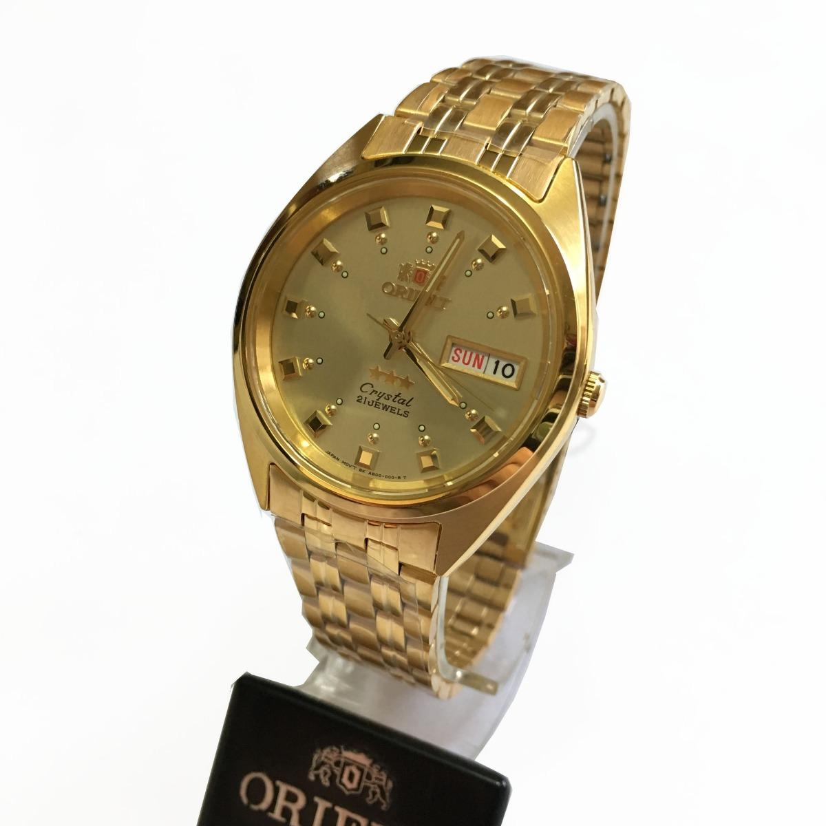 3839cdee27f Relógio Orient Automatico Masculino Dourado Original C Caixa - R ...