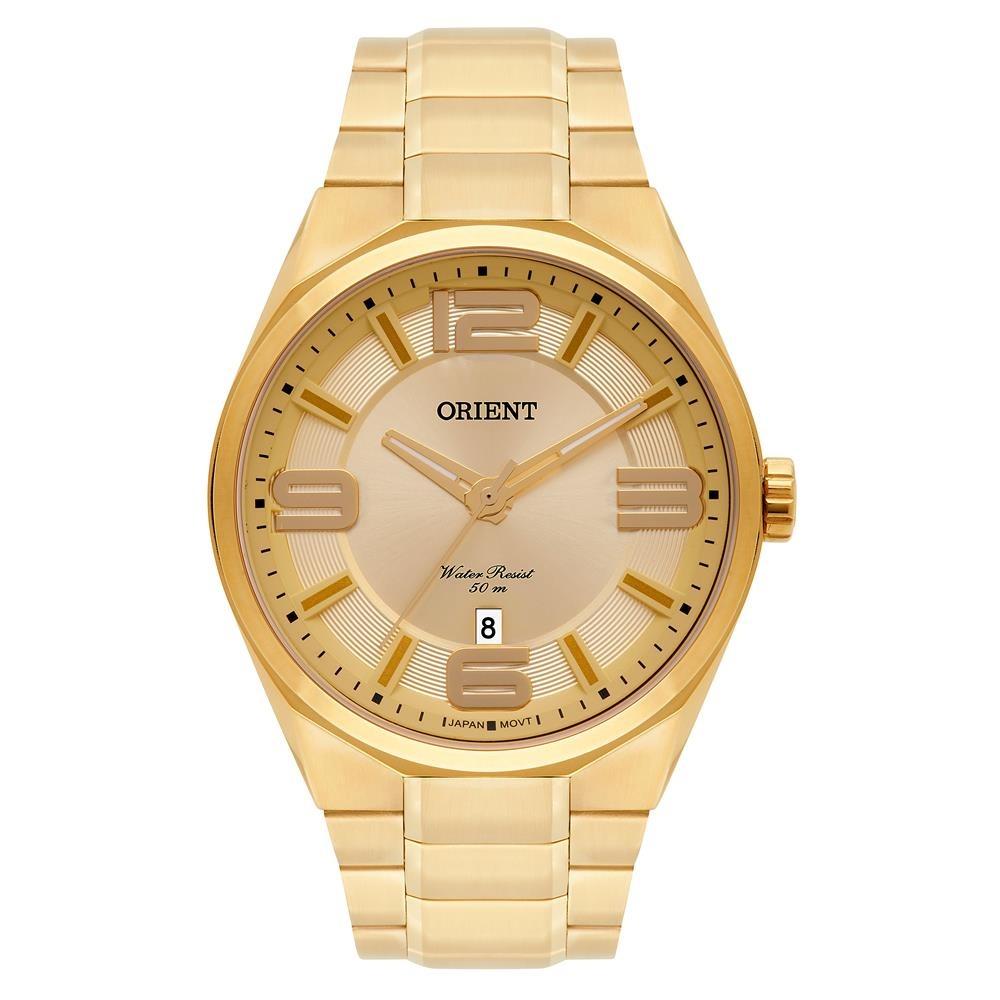 eb6119c91ea Relógio Orient Masculino Ref  Mgss1151 C2kx Casual Dourado - R  399 ...