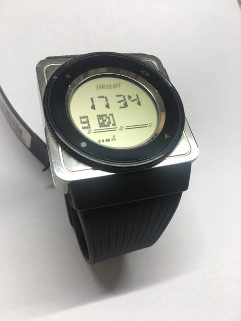 dba6bcfbb9e relógio orient masculino touch gbspd001 b1px prata digital · relógio orient  masculino